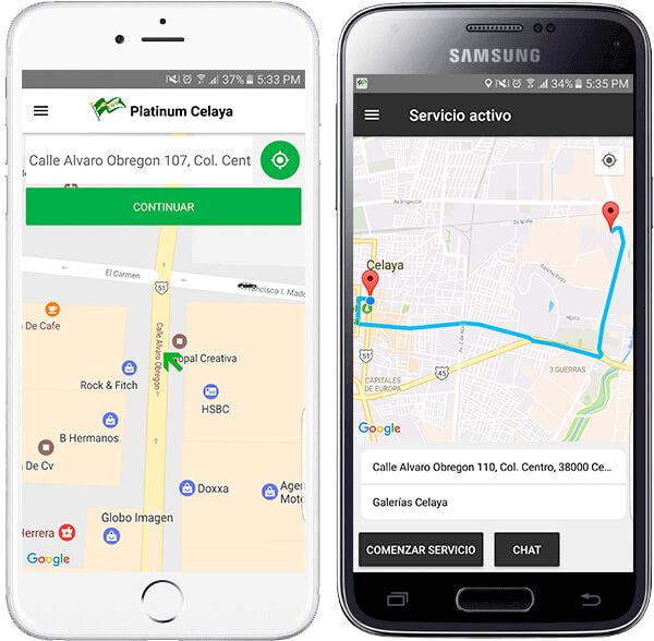 Taxicel App Móvil
