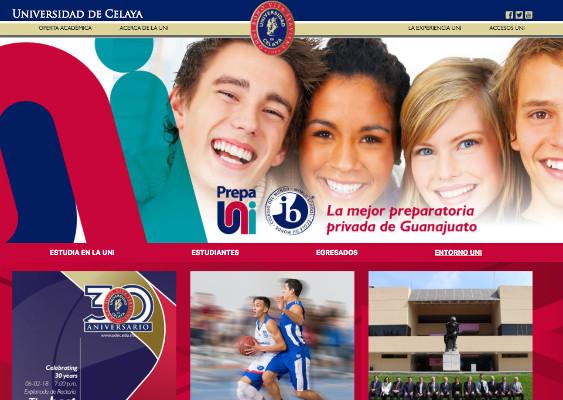 udec celaya página web
