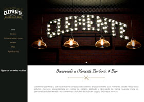 Clemente Barbería Bar Página Web