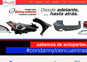 Autopartes y Accesorios Danny Colisión Página Web