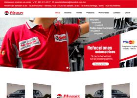 Refacciones Automotrices Manolos Página Web